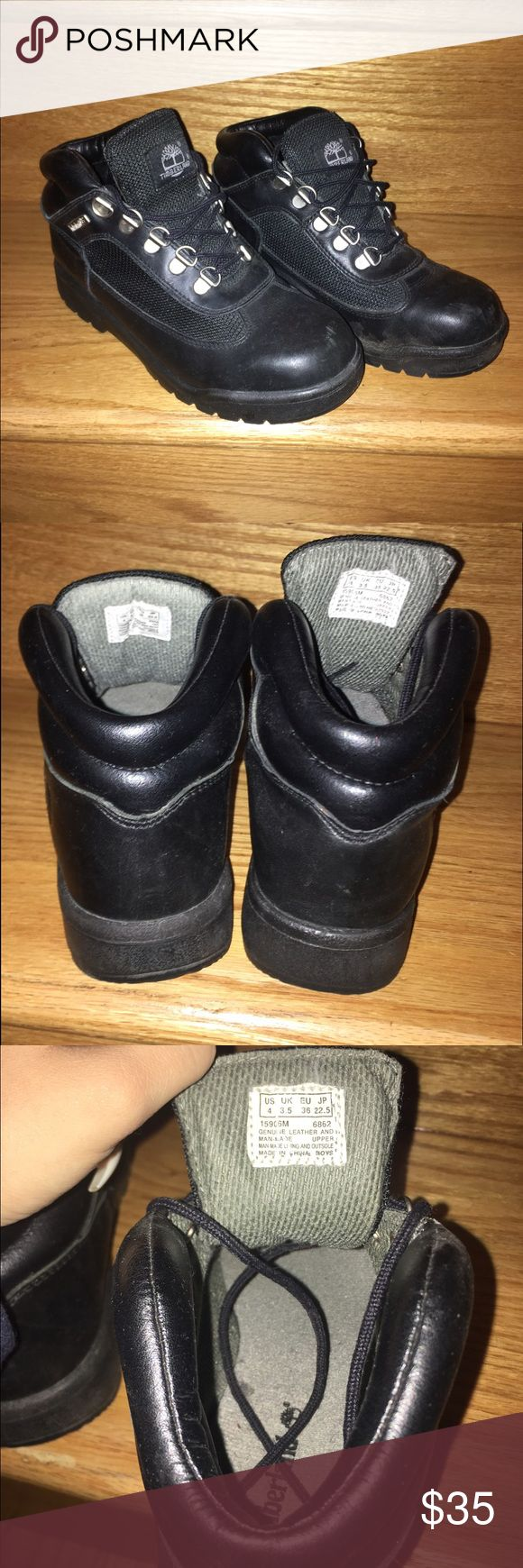 Black timberland boots Black Timberland Boots Size 4 Gently Used message me with any questions timberland  Shoes Ankle Boots & Booties