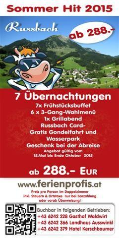 Angebot für Urlaub im Salzburger Land #pauschalreise #urlaub #salzburg