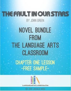 The Fault In Our Stars by John Green Chapter One Quiz or Test, common core aligned.   This file includes a quiz/ test with:  * 15 multiple choice questions * 5 short answer questions * 2 essay prompts  * 3 bookmarks