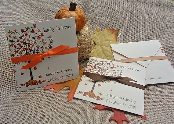 Fall Wedding | Fall Favors | Fall Tree | Lottery Ticket Holders | by abbey and izzie designs