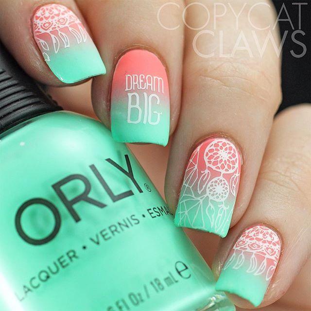 Dream BIG with @copycatclaws cute ombre manicure using BM-S301! #bundlemonster #bmc