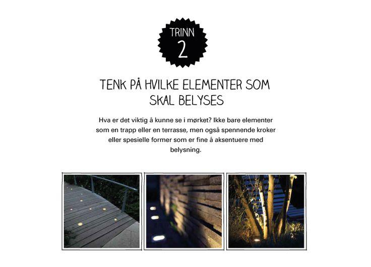 Lysplan trinn 2: Tenk på hvilke elementer som skal belyses