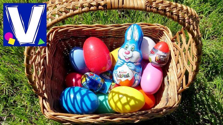 Охотимся за пасхальными яйцами. Это очень веселое занятие для детей. Пасхальный кролик разбросал много разноцветных яиц сюрпризов. Ищем яйца и открываем их. ...