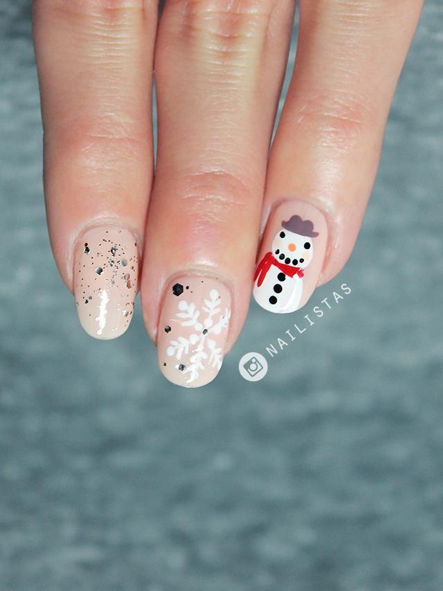 uas decoradas con mueco de nieve para navidad