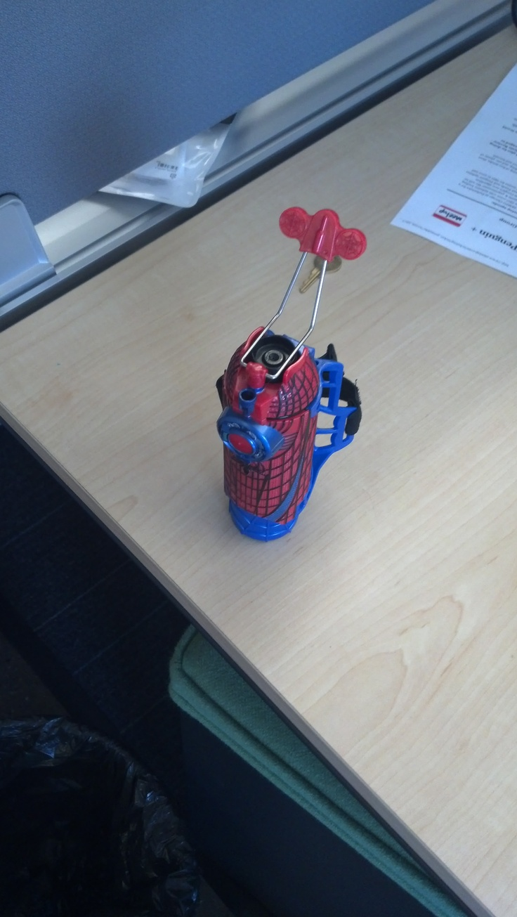 Ever wanted to be Spider Man?  Now you can be with this nifty web/silly-string shooter thingy!