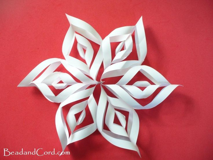 3D Paper Snowflakes - I just made a bunch of these for the station. Easy to make, and light enough to hang.