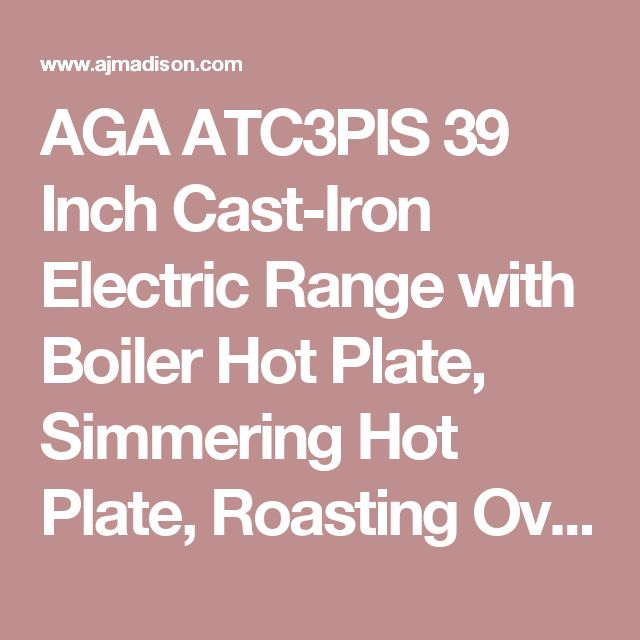AGA ATC3PIS 39 Inch Cast-Iron Electric Range with Boiler Hot Plate, Simmering Hot Plate, Roasting Oven, Baking Oven, Slow-Cook Oven, Insulated Covers and Remote Control Handset: Pistachio