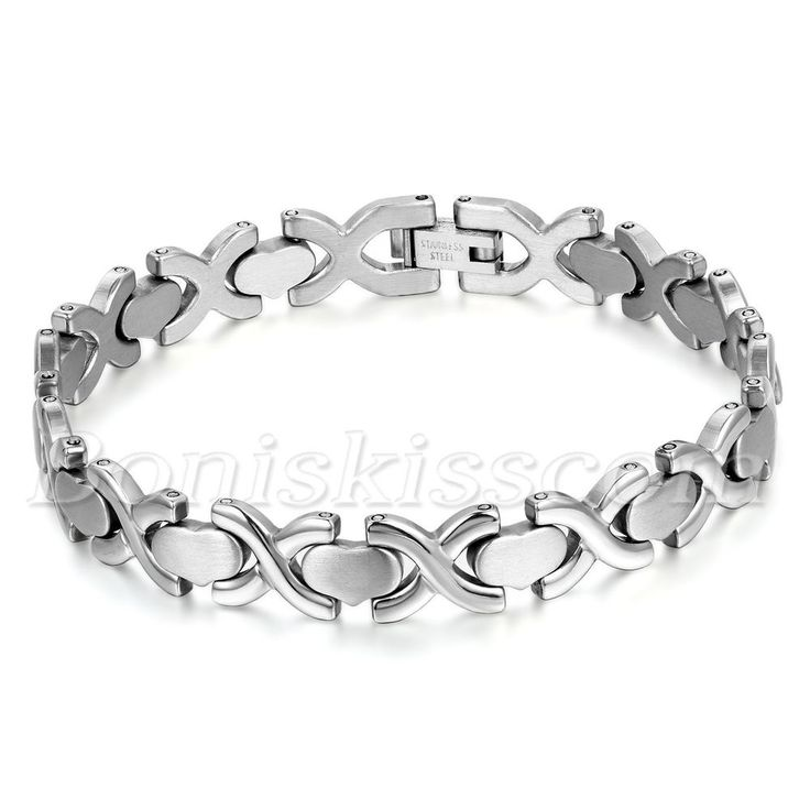 Fine Jewelry Mens Two-Tone Stainless Steel with Blue Links Bracelet TzmLrvxE
