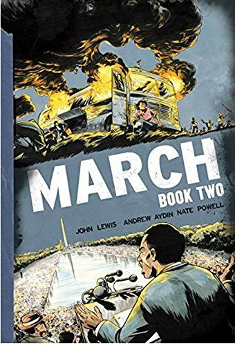 "Don't miss the long-awaited sequel to the #1 bestseller March: Book One! ""With March, Congressman John Lewis takes us behind the scenes of some of the most pivotal moments of the Civil Rights Movement"