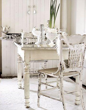 chippy white furniture