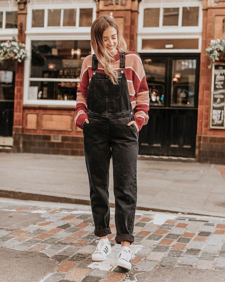 BDG Washed Black Dungarees | Urban Outfitters | Women's | Dungarees via @sarahmantelin #UOEurope #UrbanOutfittersEU #UOonYou