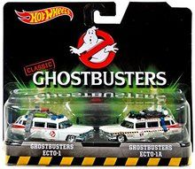 Hot Wheels 1:64 Scale Classic Ghostbusters Ecto-1 and Ecto-1A Die-Cast 2-pack