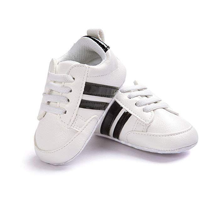 LIVEBOX Newborn Baby Boys Premium Soft Sole Infant Prewalker Toddler Sneaker Shoes
