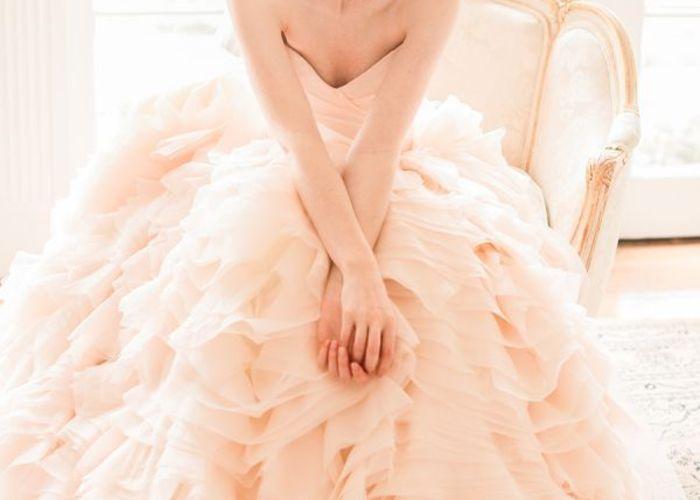 桜色ピンク♡もうすぐやってくる春に合わせて、儚く淡いドレスが着たい♡
