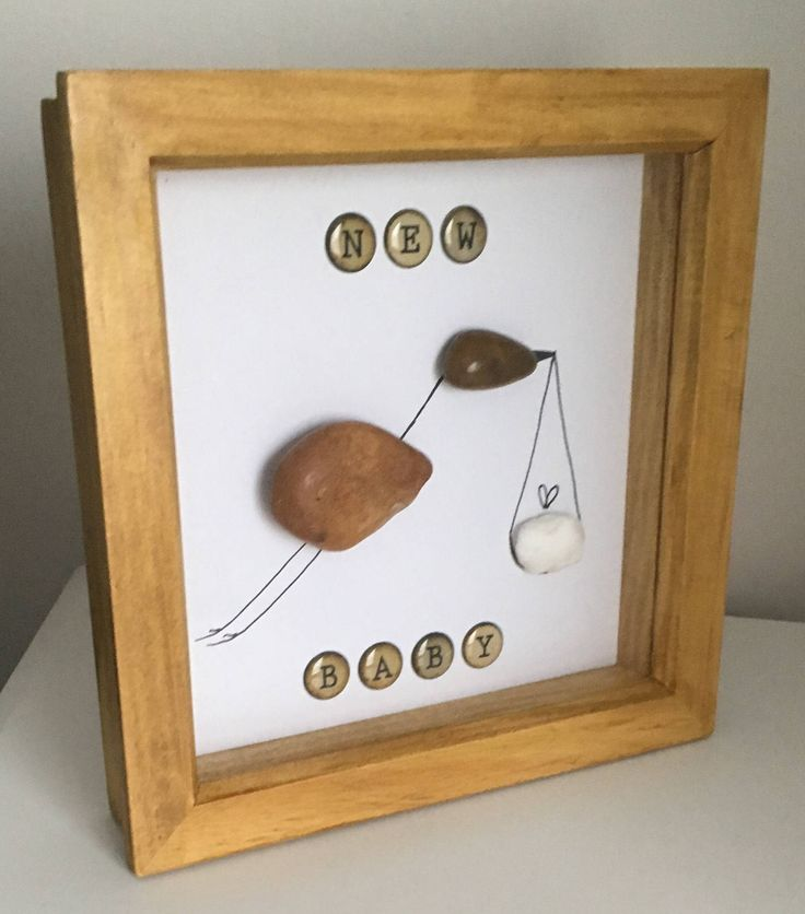Excited to share the latest addition to my shop: Stork and new baby delivery pebble art.   #baby #etsy #pregnant