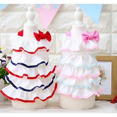 Dog+Dress+Dog+Clothes+Casual/Daily+Princess+Blushing+Pink+Red+–+USD+$+11.99