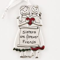 Sisters are Forever Friends Ornament