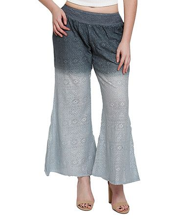 Another great find on #zulily! Gray High-Waist Palazzo Pants - Plus #zulilyfinds