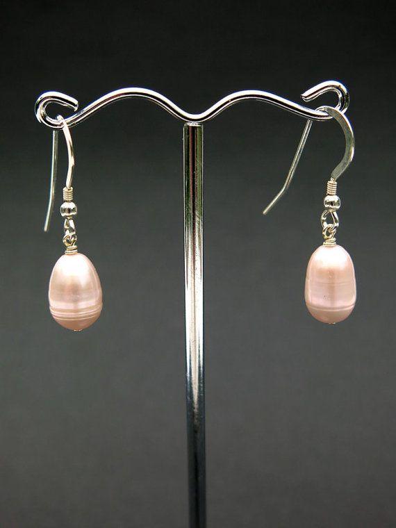 Freshwater Pearls & Sterling Silver Earrings by SweetLavenderillie