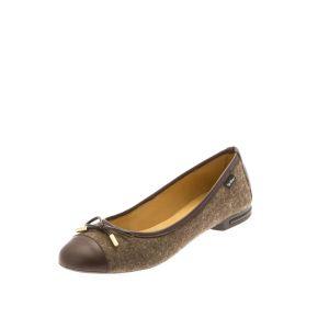 Brown Women's Ballet Flats-- wool felt shoes