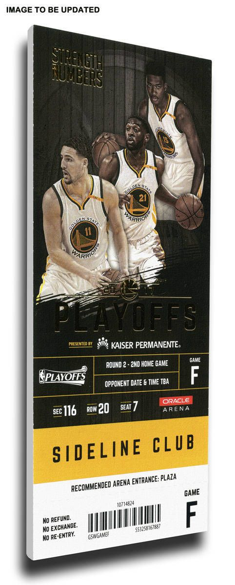 2017 NBA Finals Game 2 Canvas Mega Ticket - Cleveland Cavaliers at Golden State Warriors