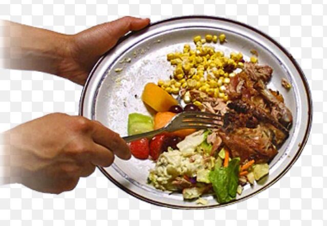 What most people do to the food they didn't eat. We throw away leftovers that could be use another day, we really don't see how much garbage we throw out daily. We must start preserving our resources.