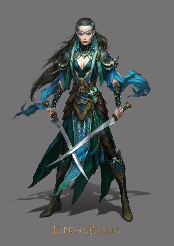 Elfa de las llanuras guerrera