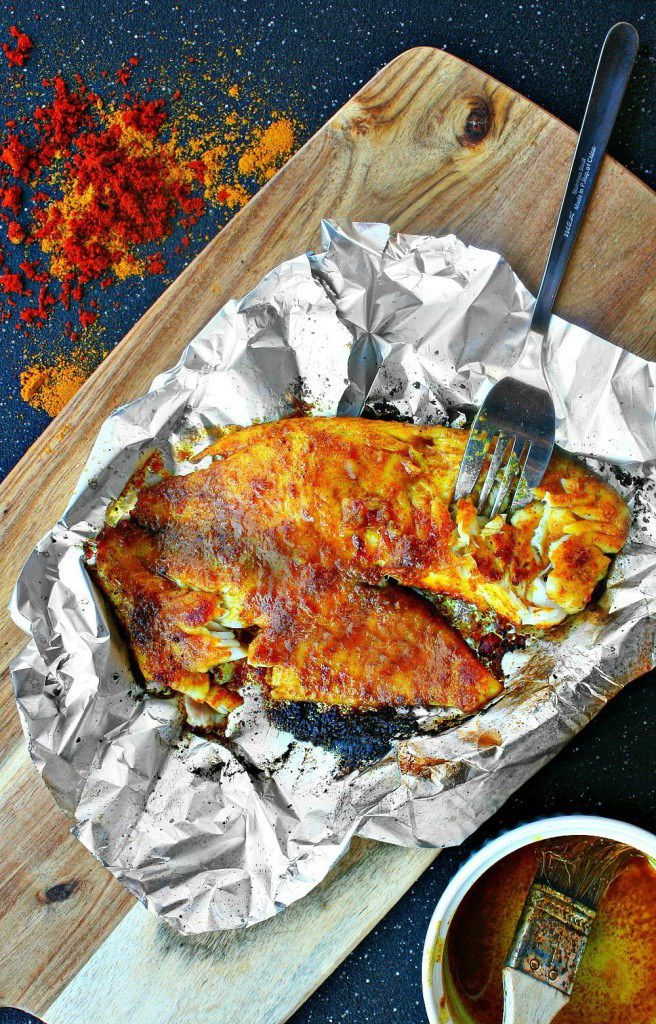 Garam Masala Tilapia with Sweet Curry Butter   Bursting with so much flavor, serve with a side of Mahatma Basmati Rice for a tasty dinner meal.