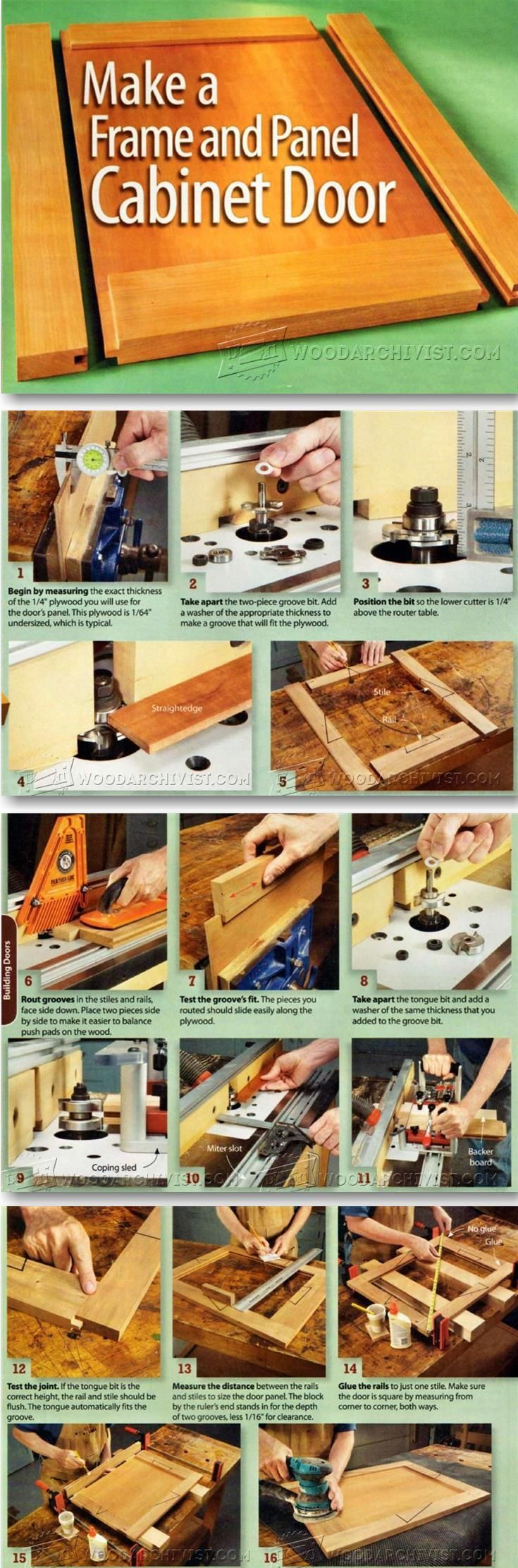 Building Cabinet Doors - Cabinet Door Construction Techniques | WoodArchivist.com