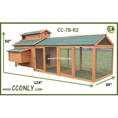 You'll love the Chicken Coop with Chicken Run at Wayfair - Great Deals on all Pets  products with Free Shipping on most stuff, even the big stuff.