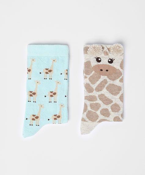 Pack of giraffe socks - OYSHO