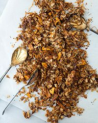 Tropical Chia Coconut-Mango Granola Recipe.  I get to use my dehydrator and chia seeds!