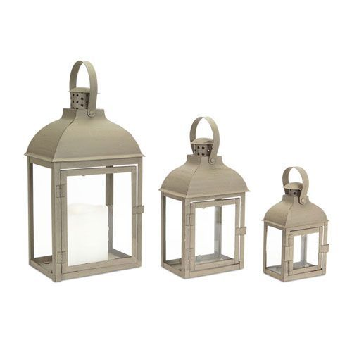 Taupe Lantern, Set of Three