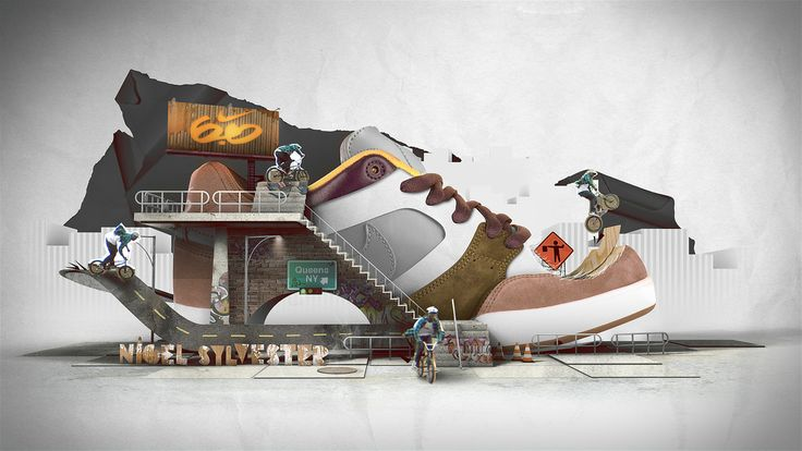 #Nike #6.0 - motion graphics style frame