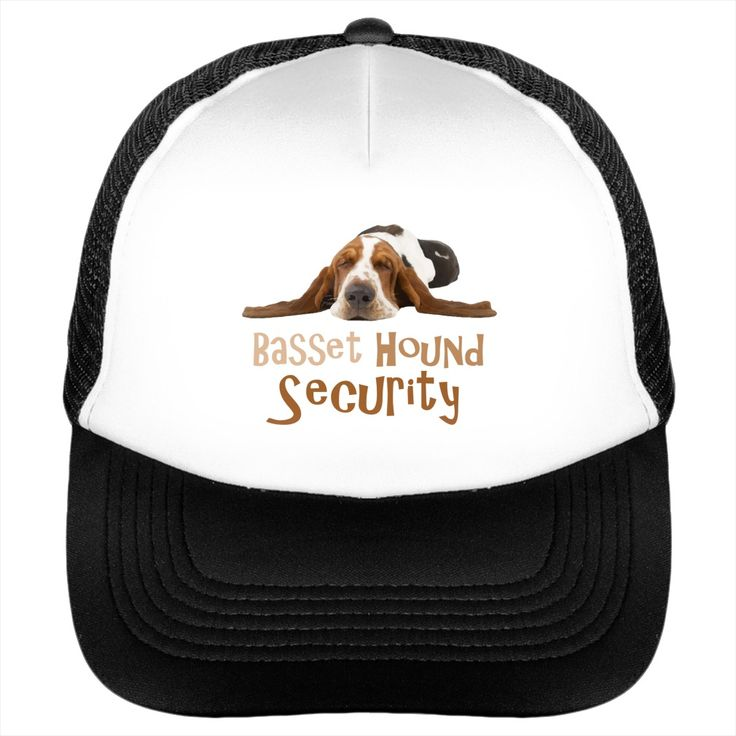 Funny Basset Hound Security Cap - Basset Hounds are great at loving and having fun, but guarding is not this breeds thing! Show your love for Bassets in the awesome cap! Makes a perfect gift!  #Basset Hound #Basset Houndshirts #iloveBasset Hound # tshirts