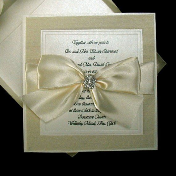 100 Boxed Couture Wedding Invitations Never Seen By JustEmbossed