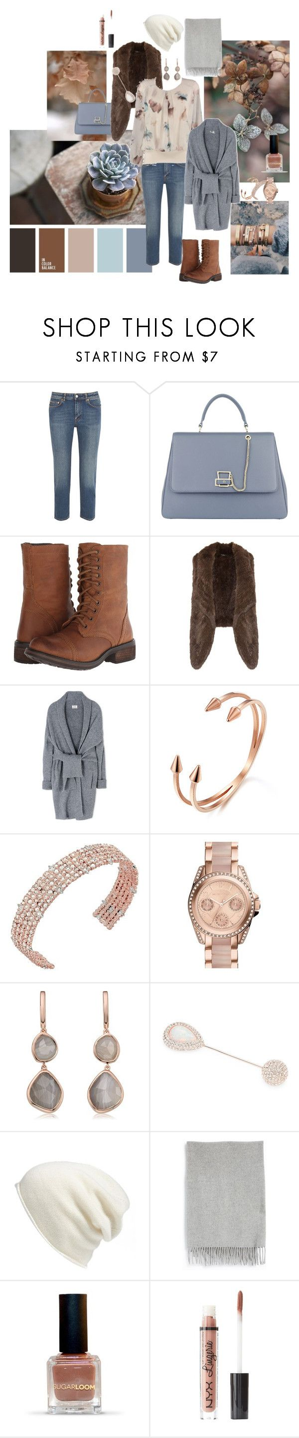 """""""Autumn foliage"""" by arcticjasmine on Polyvore featuring Acne Studios, Etienne Aigner, Steve Madden, Meteo by Yves Salomon, WithChic, Alexis Bittar, Michael Kors, Monica Vinader, Nadri and Halogen"""