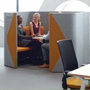 Haven Pods  are ideal for either an individual within a desk based environment  looking for a space to concentrate or a temporary place to work, or for teams to  gather for formal or impromptu meetings, presentations or to simply relax away  from busier environments.