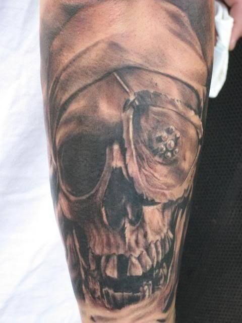 Goonie's One-Eyed Willy, pirate tattoo.