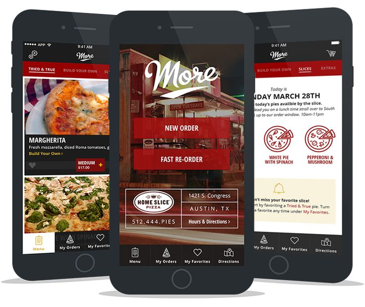 More Home Slice App Screens #ux #ui #pizza #austin #design #mobile #app