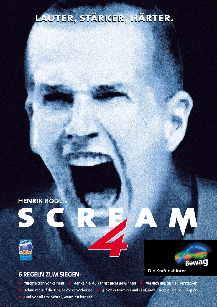 Scream 4 - Henrik Rödl (Basketball ALBA BERLIN)