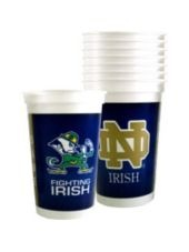 Notre Dame Fighting Irish Party Cups 8ct -College Teams -Sports Theme Party -Theme Parties - Party City $3.99