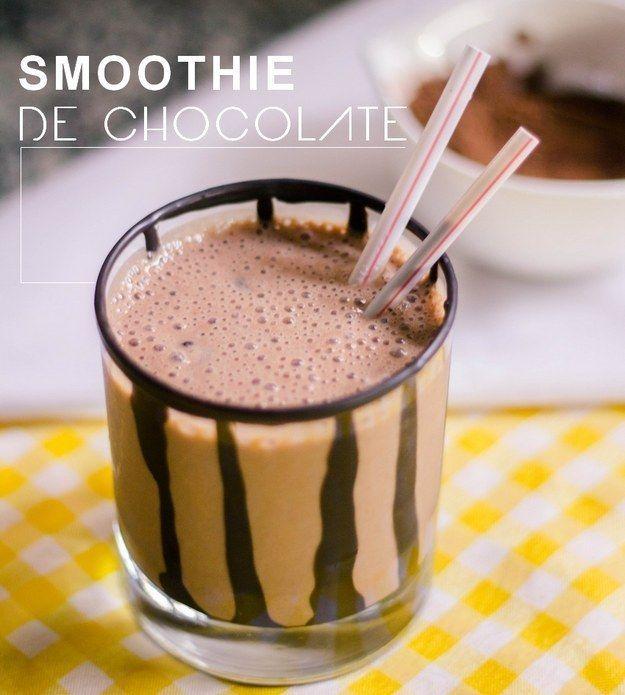 Smoothie de chocolate. | 15 receitas de liquidificador que até você vai conseguir fazer