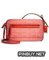Coach Poppy Flight Bag Crossbody Handbag Bag Mini Oxford Signature C – 25043 Tomato - Cross Body - Bags and Purses