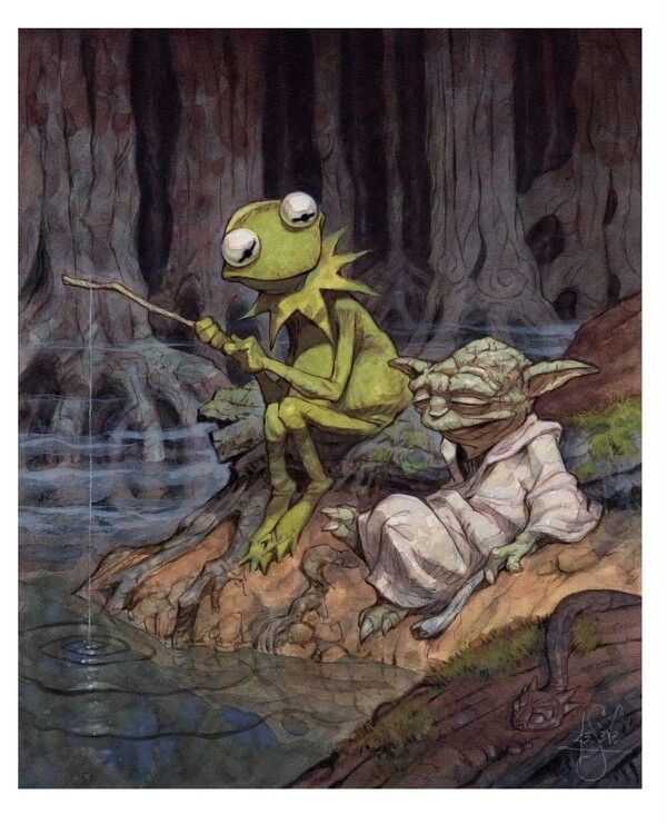 Kermit and Yoda. Two great philosophers. Peter de Seve