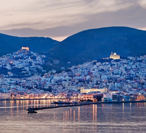 The city of Ermoupolis, Syros island, Greece