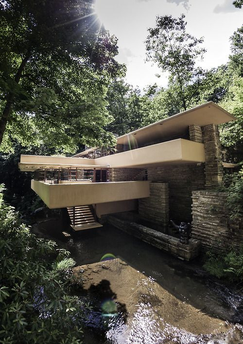 Falling Water - Kaufman House by frank Lloyd wright