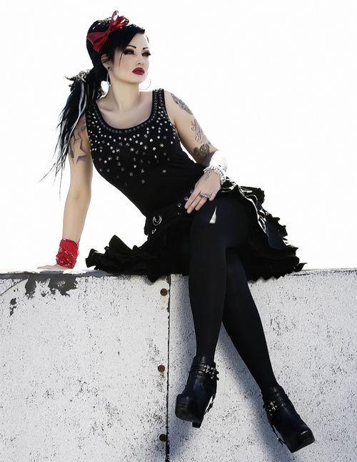 Xx DanaMichele ❤ goth gothic vampire alternative lolita dark makeup dress skirt heels beautiful pretty sexy girl woman fetish