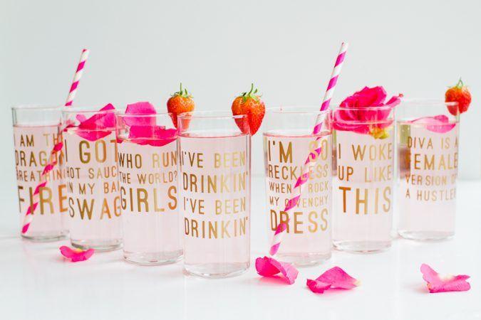Beyonce Lemonade Lyric Quotes Glasses Cocktails Drinks Hen Party Bachelorette Song Fun Girl Power Queen B DIY Cricut Tutorial Window Cling-17