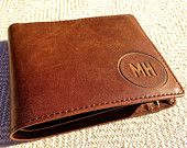 Free Engraving , Mens Leather Wallet , Handmade Mens Wallet , Minimalist Leather Bifold Wallet , Monogrammed Leather Wallet , Gift for him
